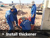 Install thickener