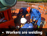 Workers are welding