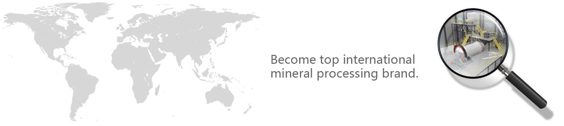 Become a leading international mineral processing brand