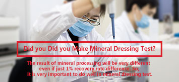 Mineral Dressing Test