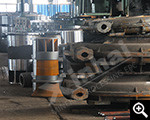 Semi-finished products in production plant