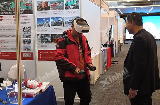 Guests experienced the VR mineral processing plant